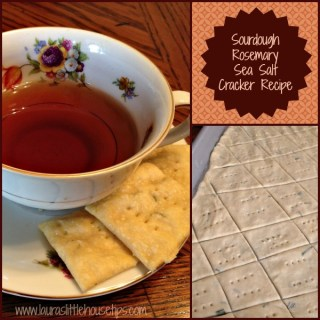 Sourdough Rosemary Sea Salt Cracker Recipe