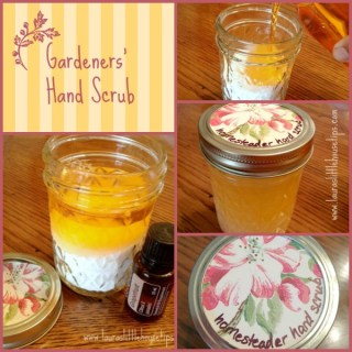Gardeners' Hand Scrub – DIY Gift For Farmers, Homesteaders and Gardeners