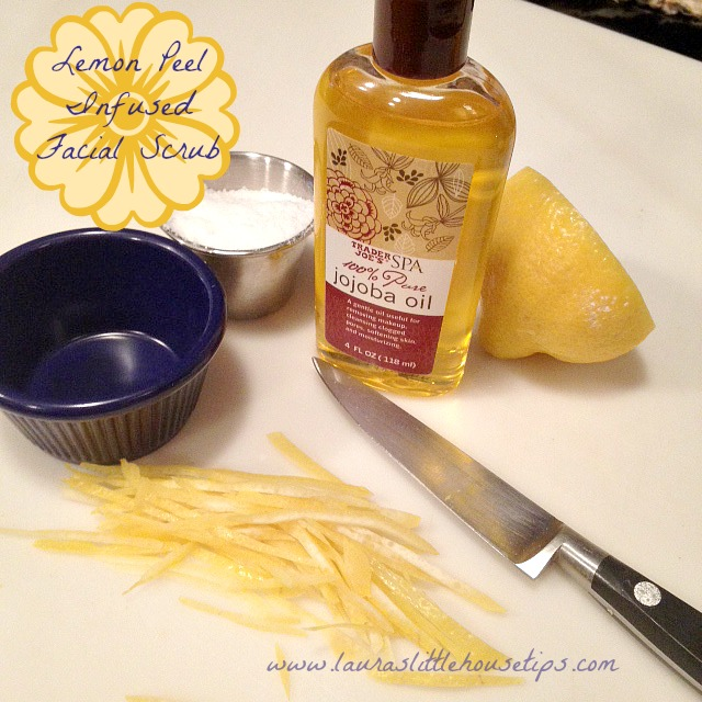 Lemon Peel Infused Facial Scrub - DIY