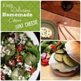 Make Your Own Chèvre - Goat Cheese www.lauraslittlehousetips.com