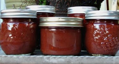 An Oregon Cottage - Spicy Canned Plum Sauce (Lower Sugar) http://anoregoncottage.com/spicy-canned-plum-sauce/