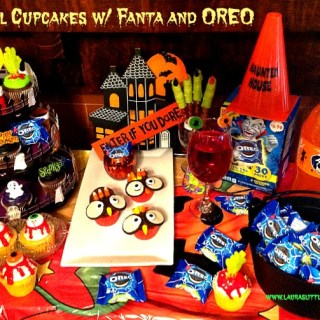 Fun Owl Cupcakes w/ Fanta and OREO #AD #SpookySnacks