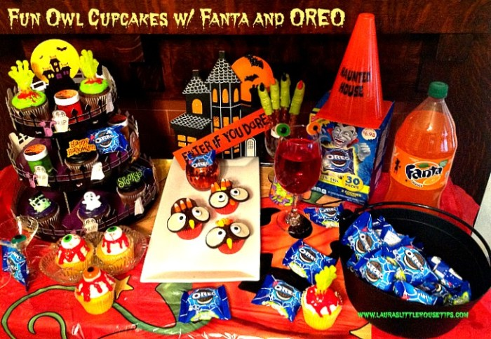 Fun Owl Cupcakes w Fanta and OREO