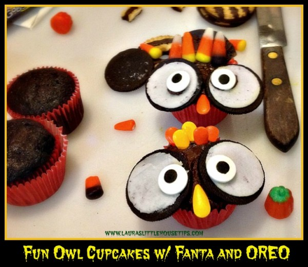 Fun Owl Cupcakes w_ Fanta and OREO 3