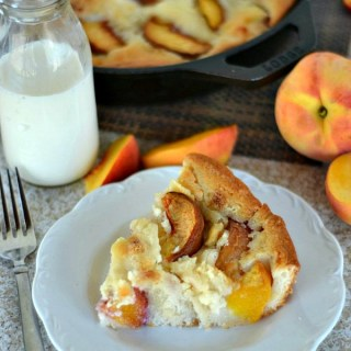 Iron Skillet Peaches & Cream Cobbler