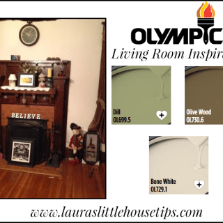 Updating my Living Room with Olympic Paints and Stains! #BringontheColor