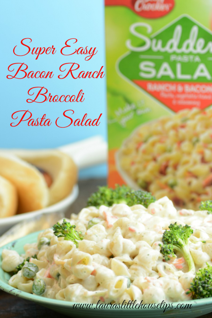Super Easy  Bacon Ranch  Broccoli  Pasta Salad 1