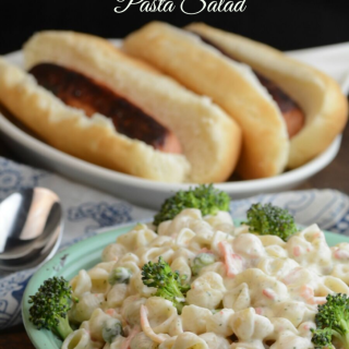 Super Easy Bacon Ranch Broccoli Pasta Salad