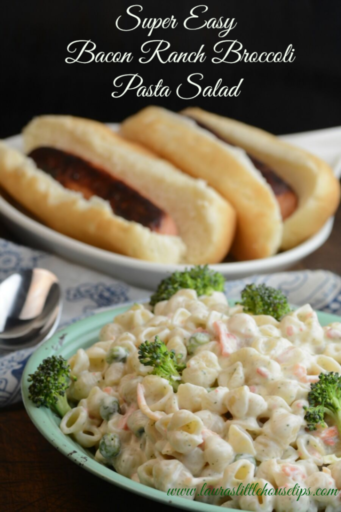 Super Easy Bacon Ranch Broccoli Pasta Salad 3