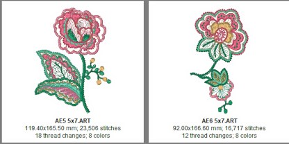 Applique Elegance 5x7 Design Details Page 2