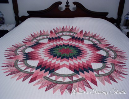 New York Beauty & Lone Star Integrated Quilt Top