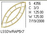 Double Wedding Ring Applique 5x7 Design Details