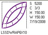 Double Wedding Ring Applique 6x10 Design Details