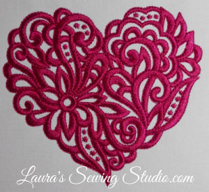 Lacy Hearts 5-Inch