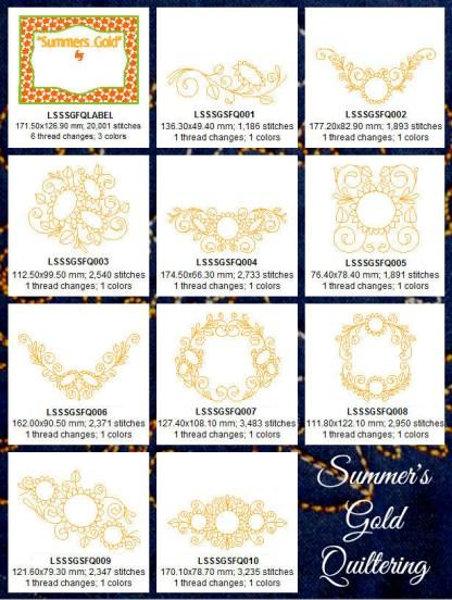 Summer's Gold Quiltering Design Details