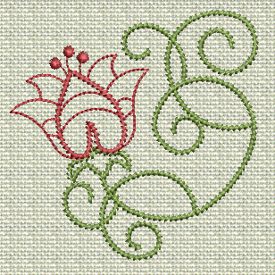 Filigree Flowers No. 7A