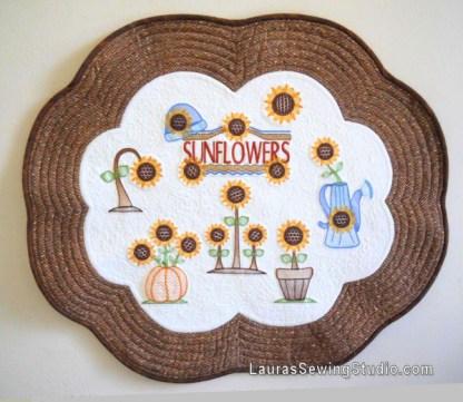 Sunflower Harvest Collage Banner