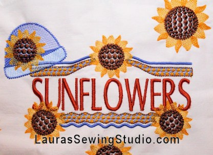 Sunflower Harvest Collage Banner