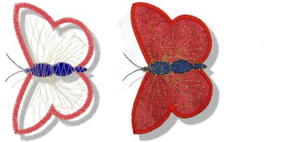 Butterflies Applique No. 4