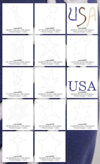 Chenille Stars 5x7 Design Details