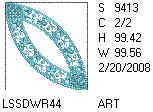 Double Wedding Ring Floral Fill 4x4 Design Details