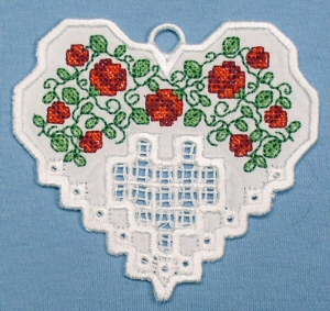 Hardanger Floral Heart No. 1
