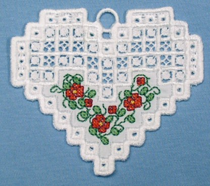 Hardanger Floral Heart No. 2