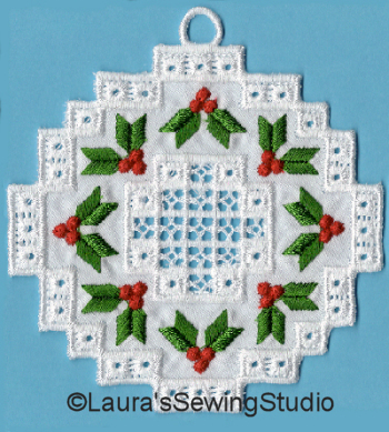 Hardanger Wreath Ornaments