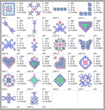 Hardanger Rainbows Design Details