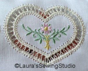Heirloom Insertion Lace – Hearts