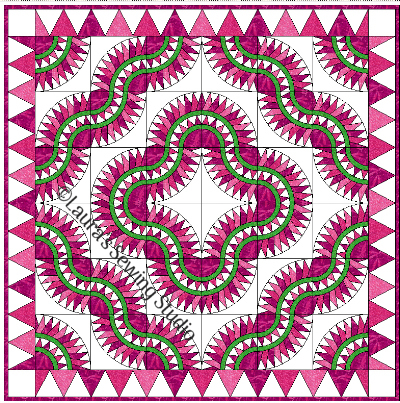 New York Beauty Hoop N Quilt Layout #2