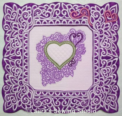 Lacy Hearts Frames & Glorious Hearts (Extra Large Image)