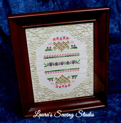 Hardanger Eggs & Beautiful Frames Fusion, Take 2