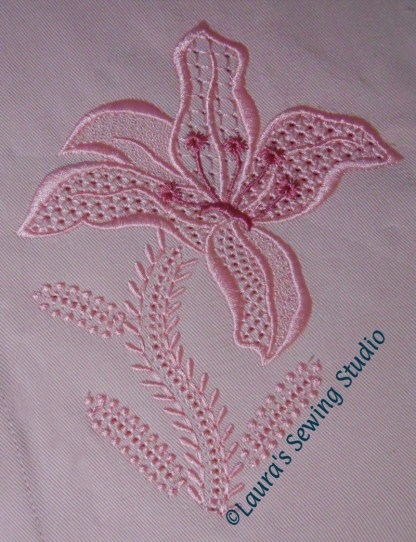 Wing Needle Lily Design No. 1