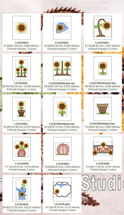 Sunflower Harvest Design Details