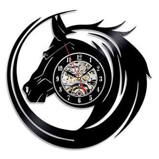 Horse Head Vinyl Wall Clock
