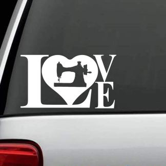 Love Sewing Window Decal