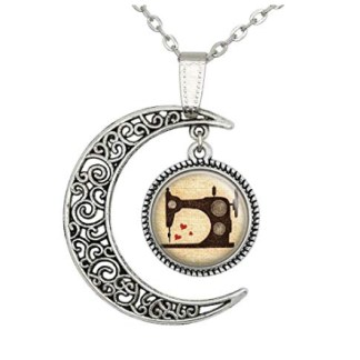 Lan Jin Art Vintage Sewing Machine Pendant