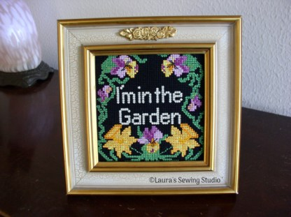Needlepoint Machine Embroidery Project - In the Garden