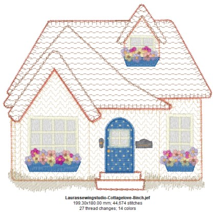 Cottage Love 8-Inch Design Details