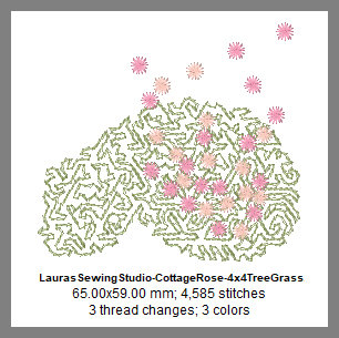 Cottage Rose 4x4 Elements Design Details, Page 2
