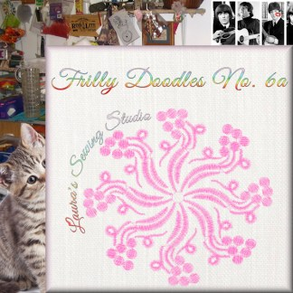 Frilly Doodles No. 6A - Free Embroidery Design