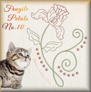 Fragile Petals No. 10 - Free Embroidery Design