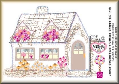 Cottage Shoppe 5x7 Design Details
