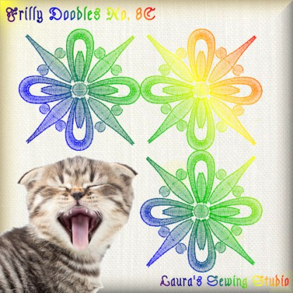 Frilly Doodles No. 8C - Free Embroidery Design