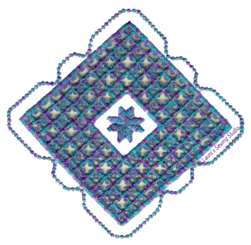Hardanger, Variegated thread, Hardanger Square, Machine Embroidery, Hardanger Machine Embroidery