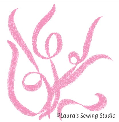 Scribbles No. 2 (artistic rendering), machine embroidery, free embroidery design