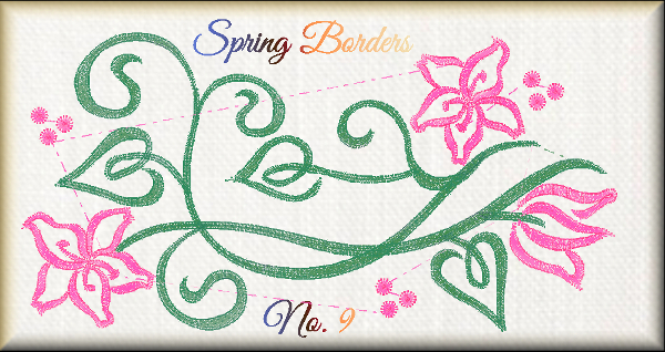 Spring Borders No. 9
