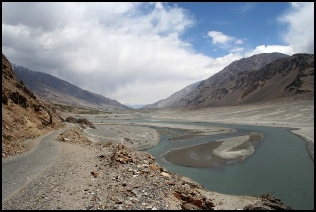 Along the Wakhan Corridor and across the river from afghanistan