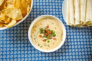 Steak and poblano queso